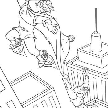 the incredibles the incredibles frozone coloring pages