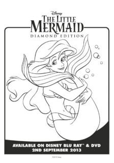 the little mermaid colouring pages