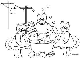 three little kittens coloring sheets nursery rhymes