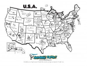united states coloring page learning states social
