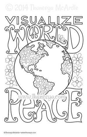 visualize world peace coloring page thaneeya mcardle