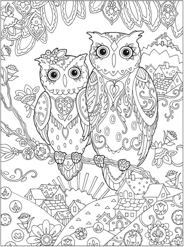 8 free printable mindful colouring pages owl coloring