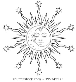 adult coloring pages sun moon images stock photos