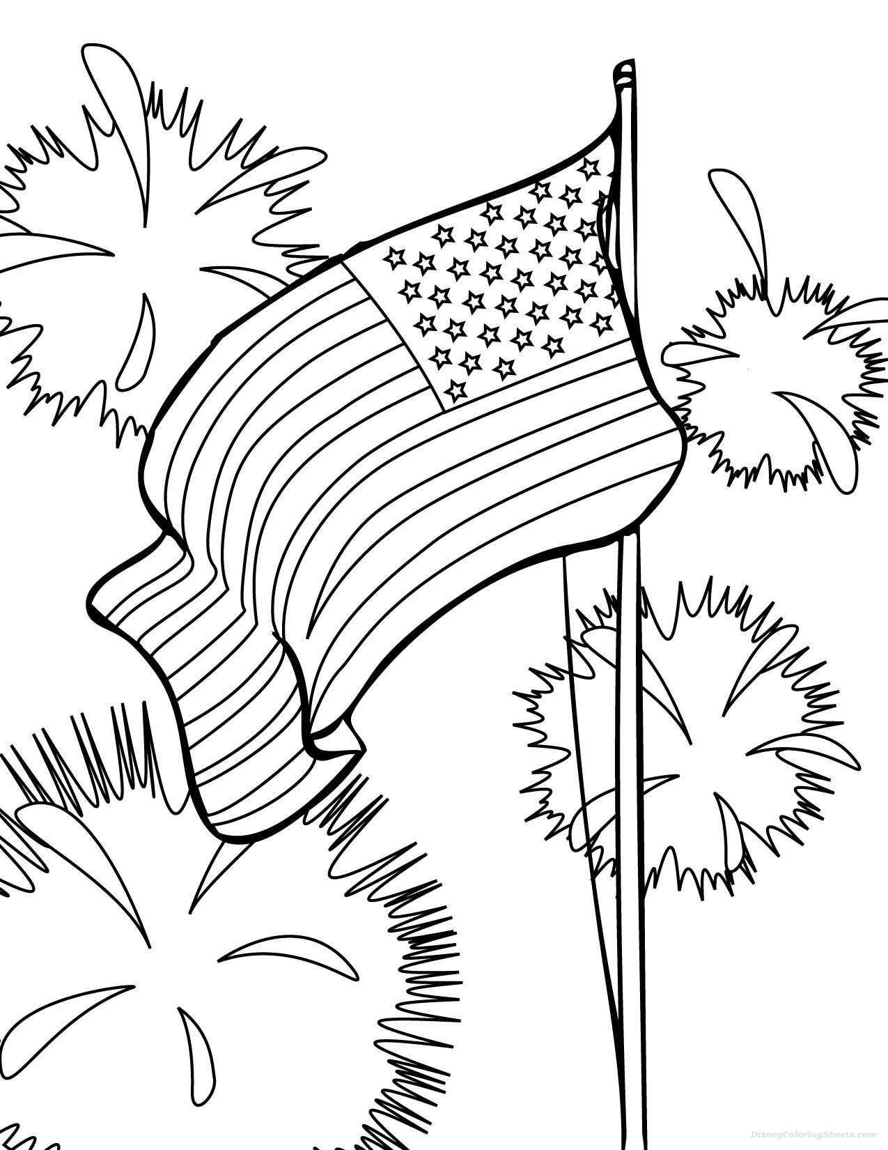 american flag coloring pages for preschool coloring pages