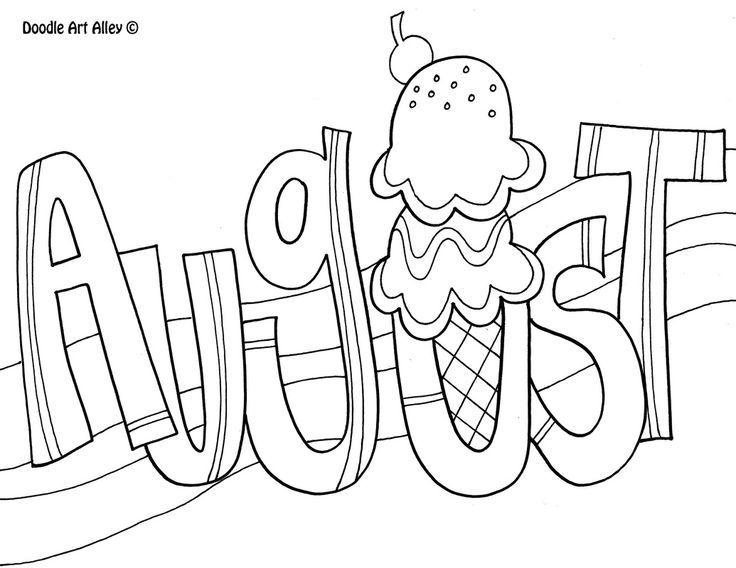august coloring page bullet journals summer coloring