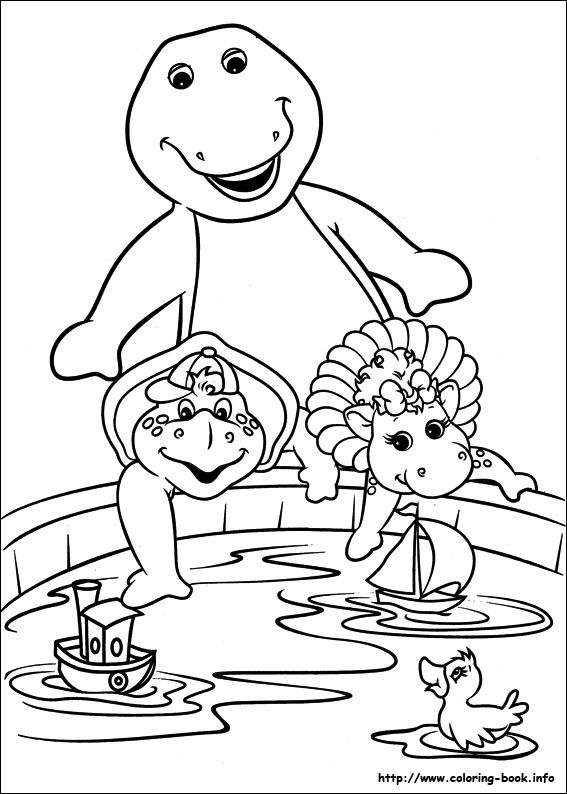 barney and friends coloring picture coloring books