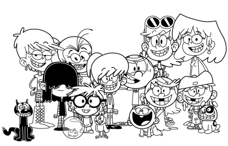 best loud house coloring page for little kids lincoln