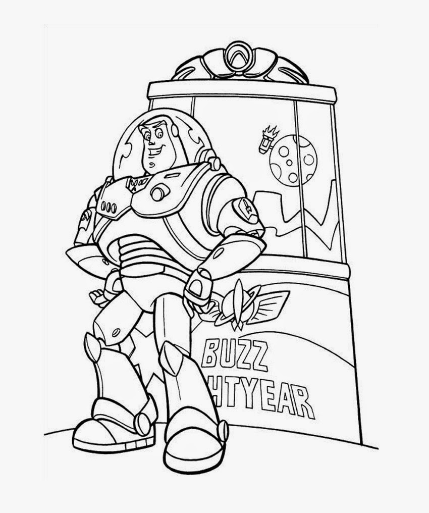 buzz lightyear toy story coloring pages