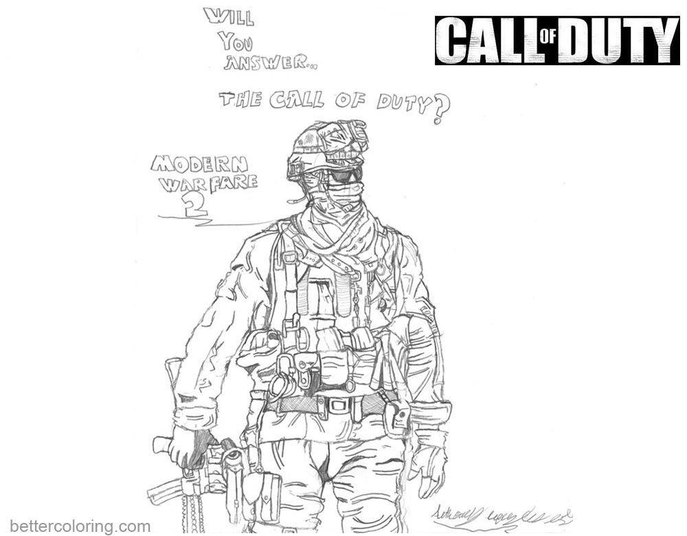 call of duty coloring pages line drawing hotfeet444