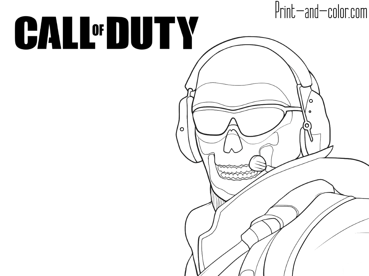 call of duty coloring pages print and colorcouk