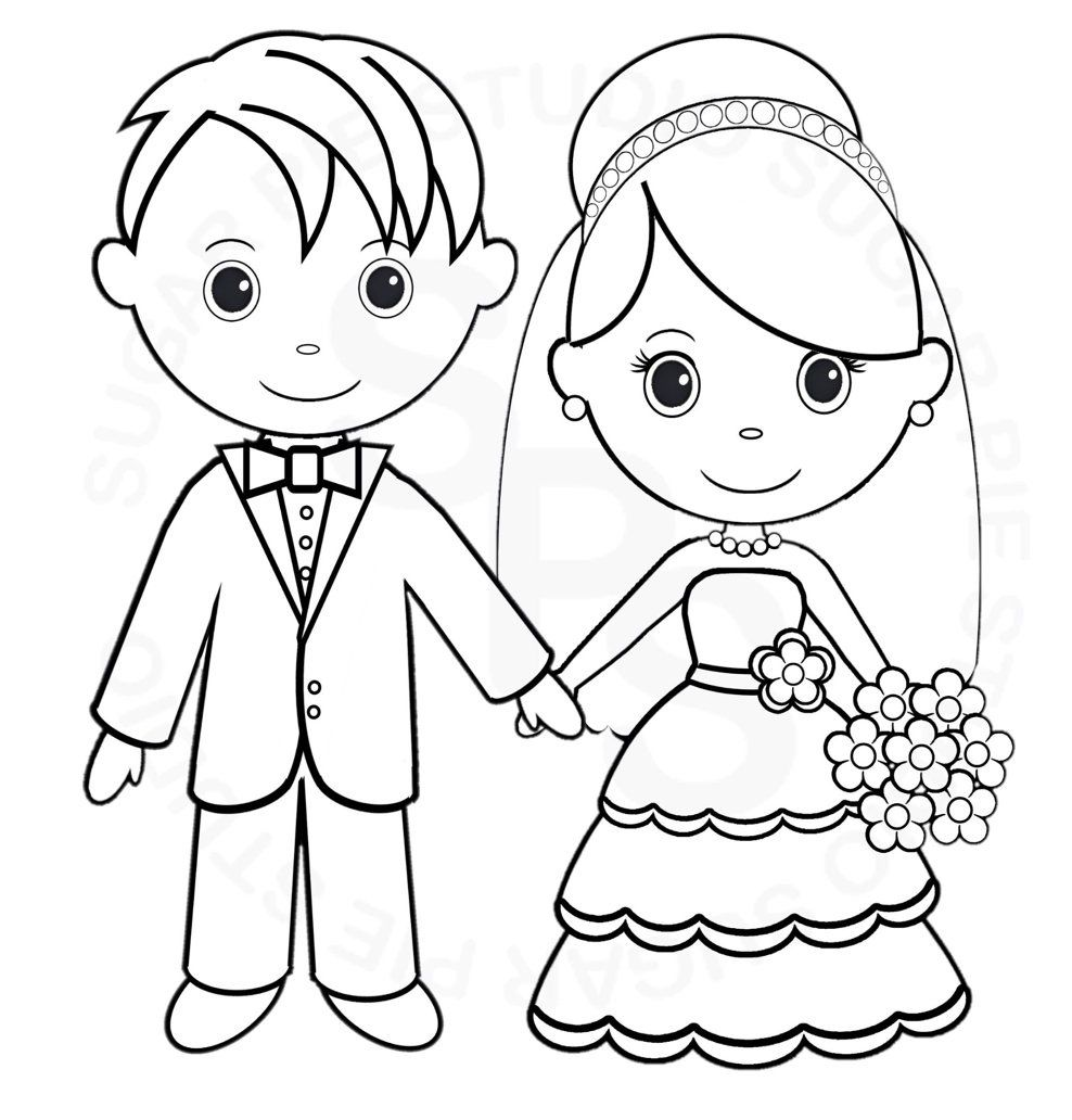 children painting in 2019 wedding coloring pages