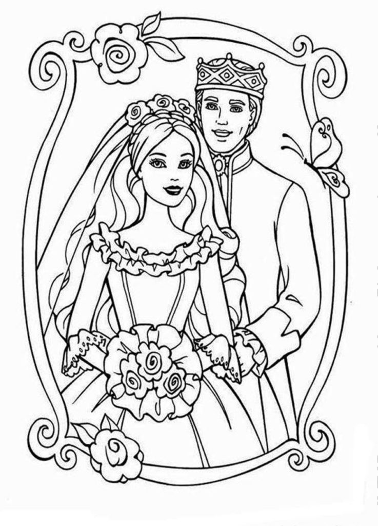 coloring pages free wedding coloring pages image
