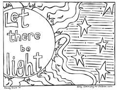 creation coloring pages god made the sun moon and stars
