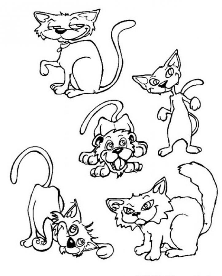 cute cats and dogs coloring pages for print