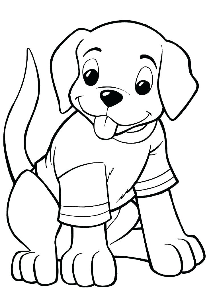 dog coloring pages printable at getdrawings free download