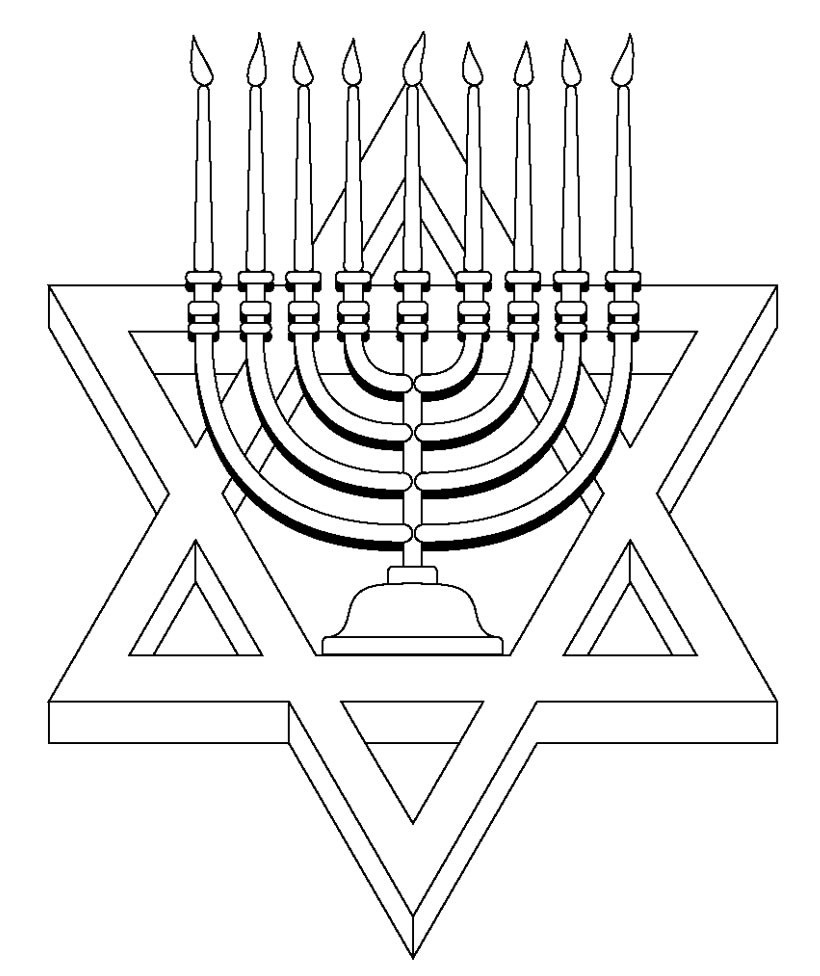 download free hanukkah color pages printable for pre