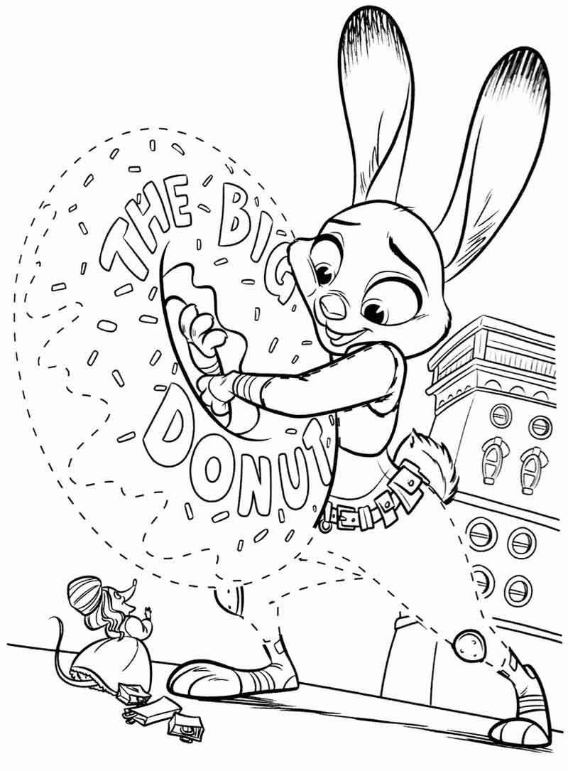download printable zootopia coloring pages