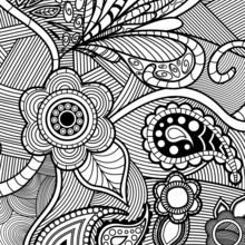 flowers paisley design coloring pages hellokids