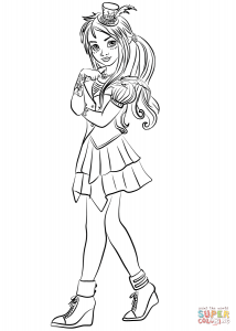 freddie coloring page descendants coloring pages