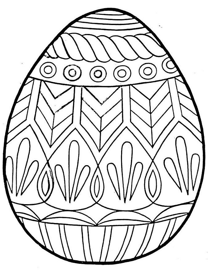 free printable easter egg coloring pages for kids easter