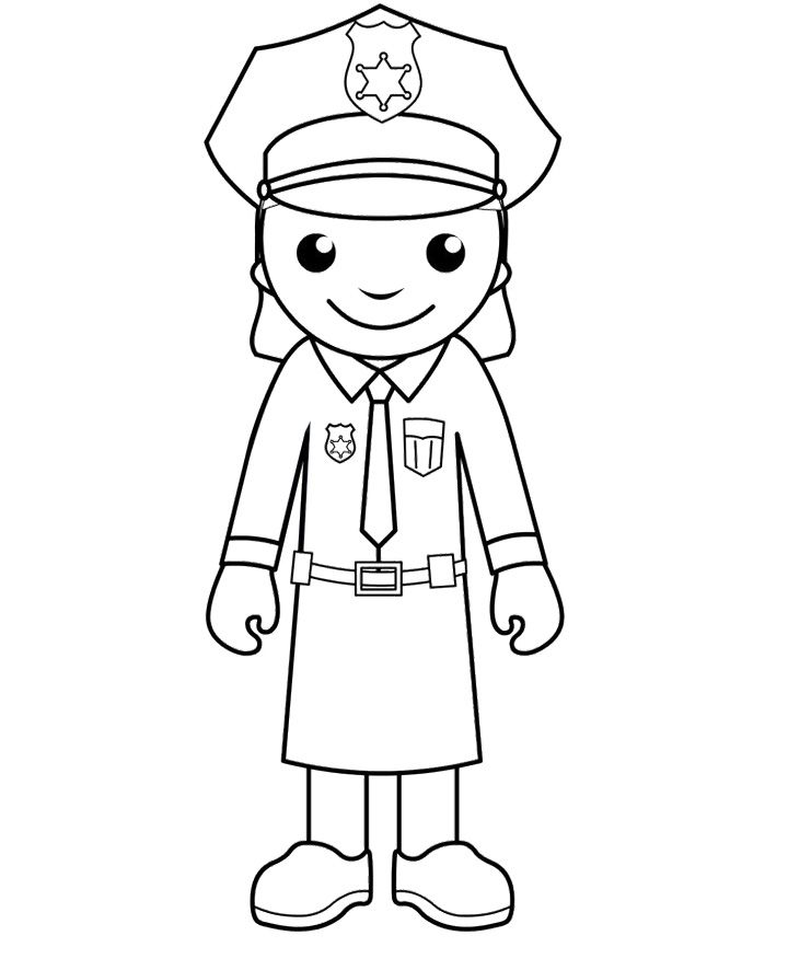 free printable police women coloring pages police crafts