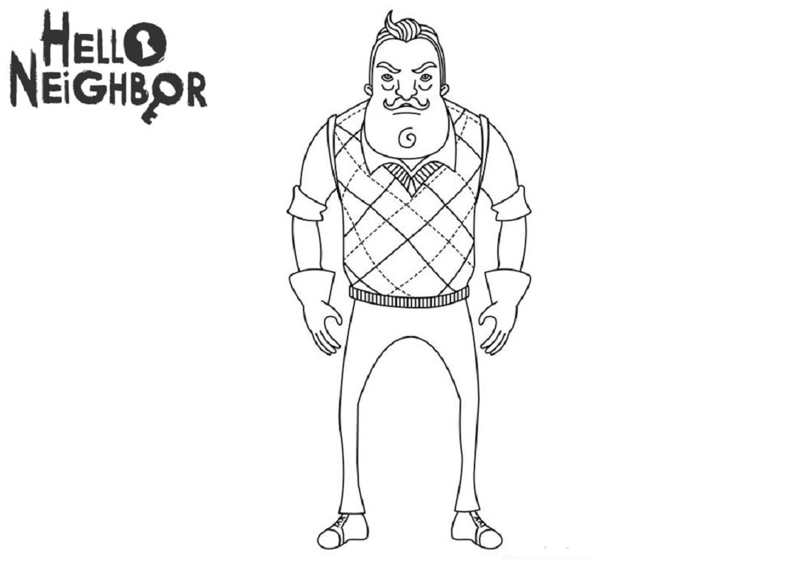 full version of hello neighbor coloring pages educative