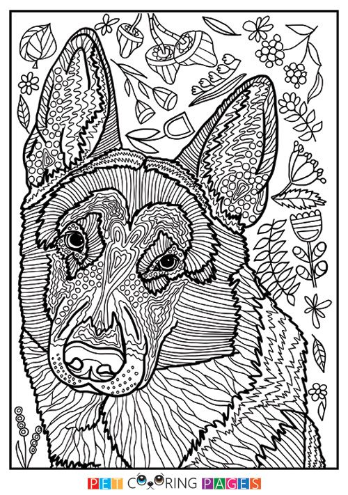 german shepherd dog coloring page dog coloring book dog