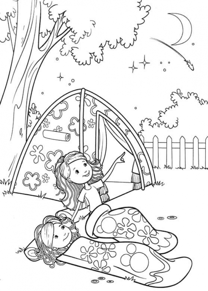 get this printable camping coloring pages 41558