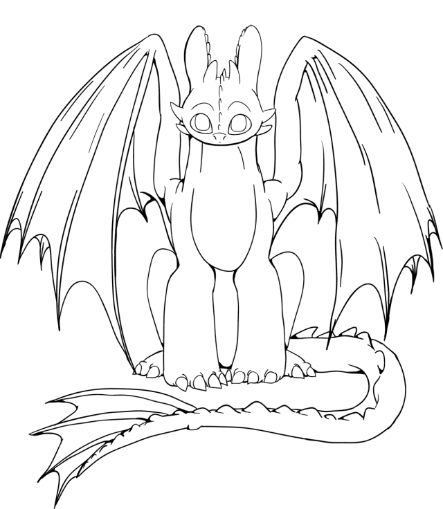Free Toothless Coloring Pages Gallery - Whitesbelfast.com
