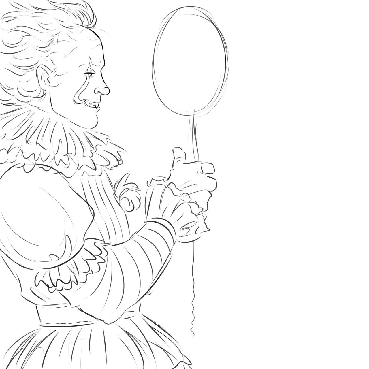 it the clown drawing at getdrawings free download