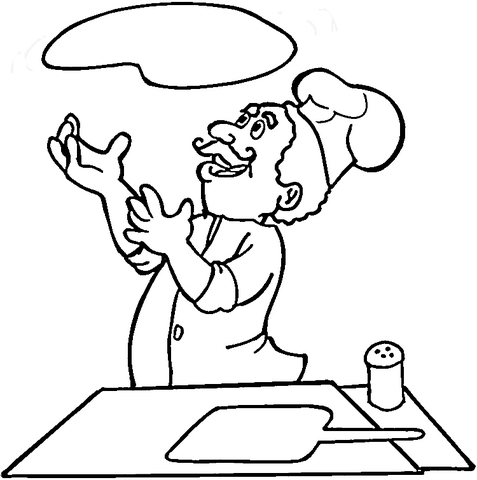 italian is cooking pizza coloring page free printable