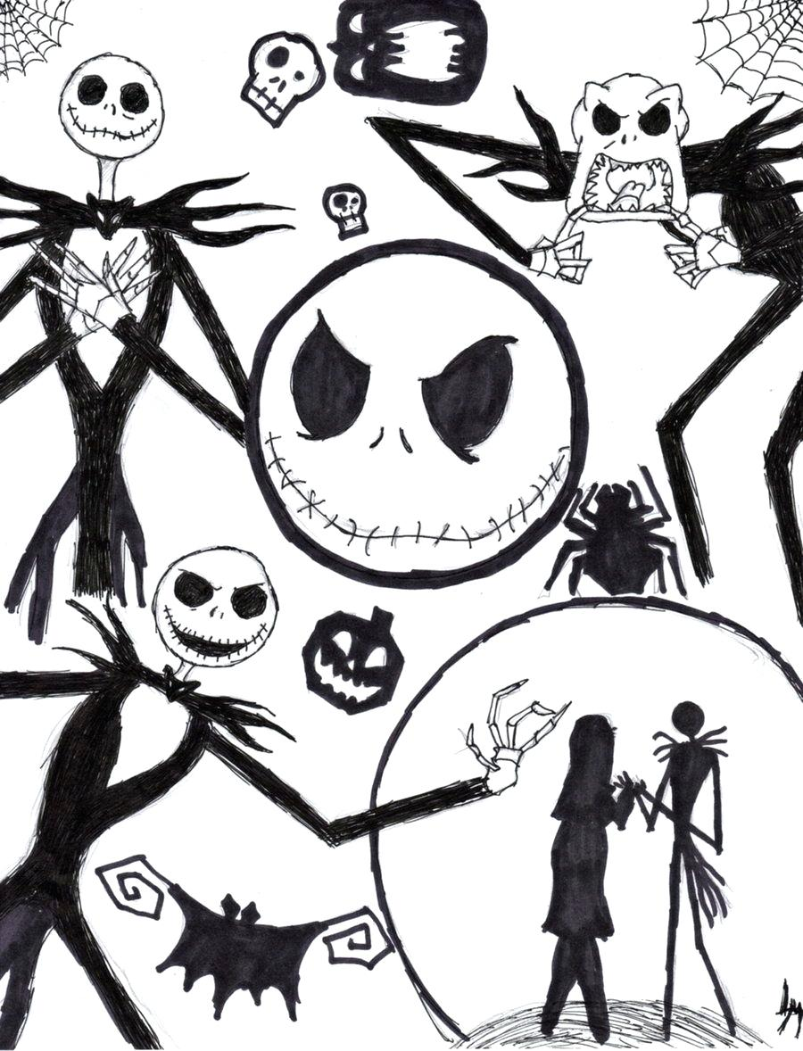jack skellington coloring page at getcolorings free