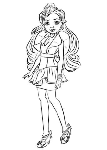 jane from descendants wicked world coloring page free