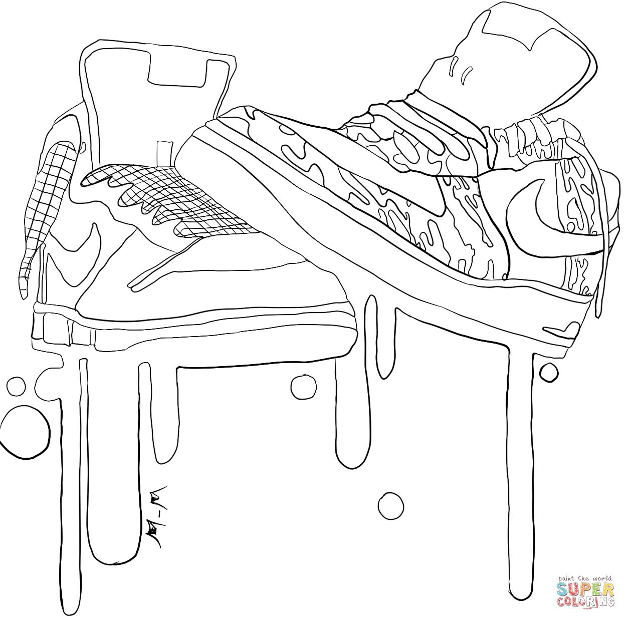 jordan shoe coloring pages coloring home