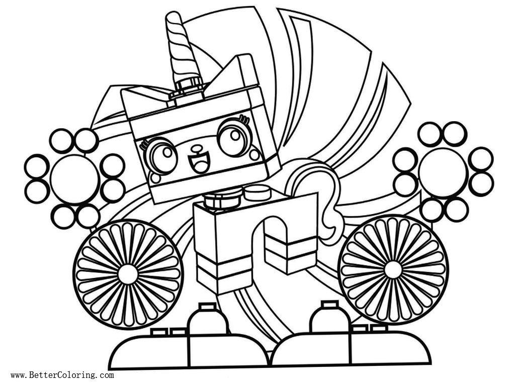 lego movie unikitty coloring pages line drawing free