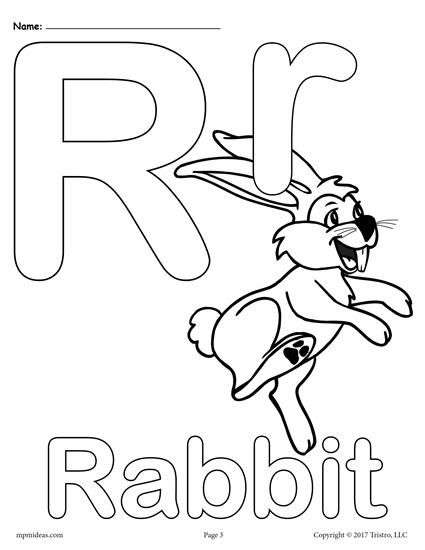 letter r alphabet coloring pages 3 free printable