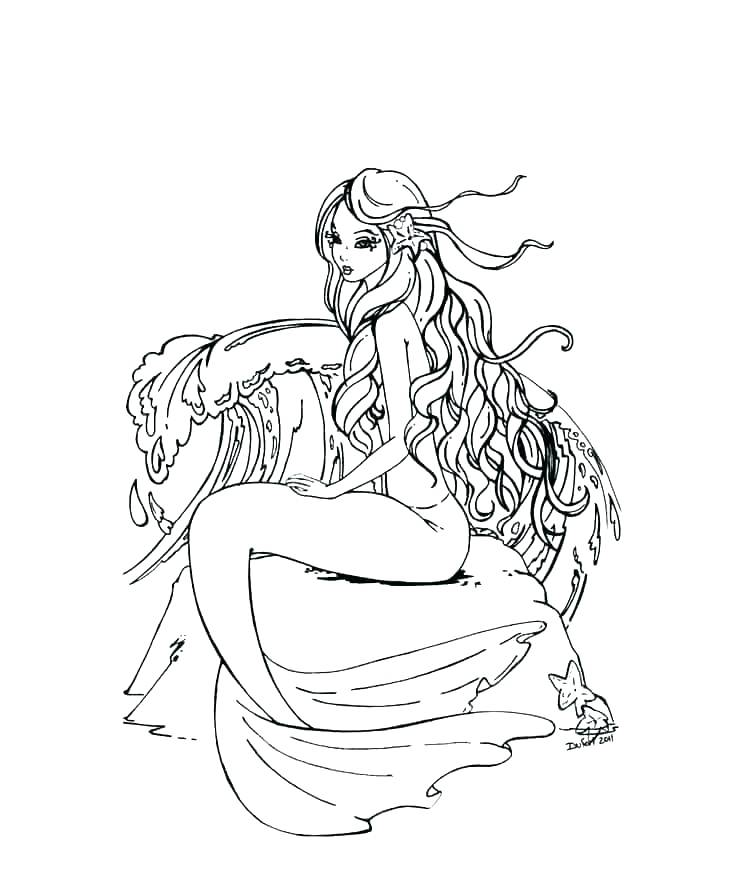 mermaid coloring pages for adults best coloring pages