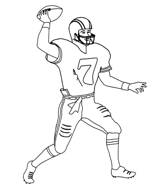 nfl football player number 7 coloring page dibujos de