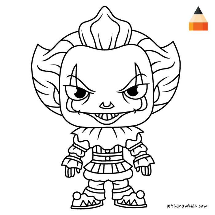 Pennywise Coloring Pages Pictures - Whitesbelfast