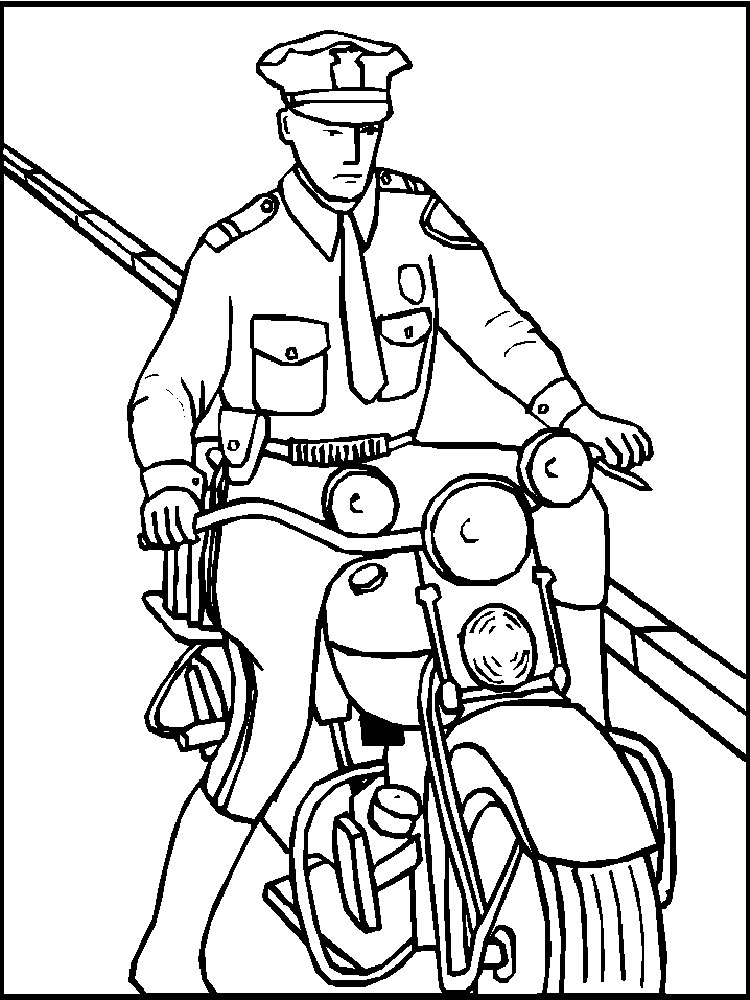 police officer coloring pages free printable police