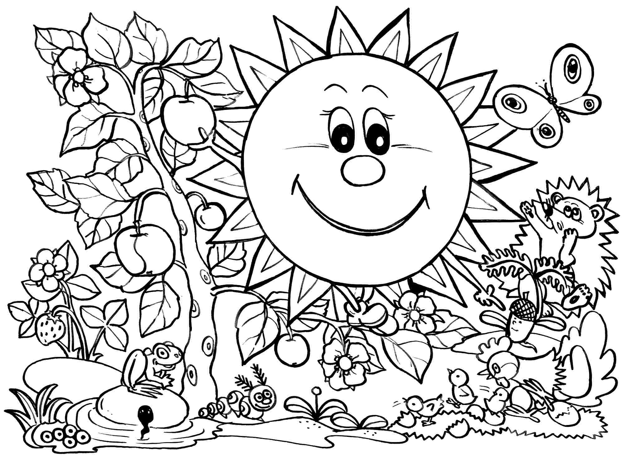 printable coloring pages spring 38818 spring coloring