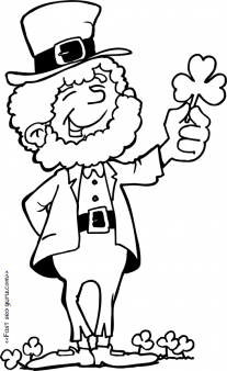 printable leprechaun st patricks day coloring pages