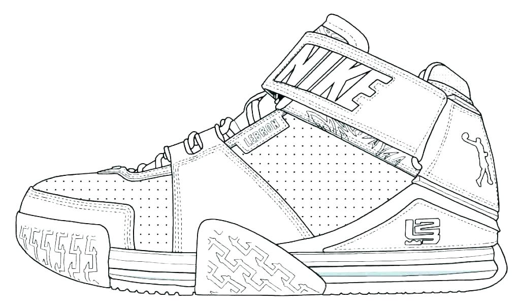 shoe coloring page at getcolorings free printable