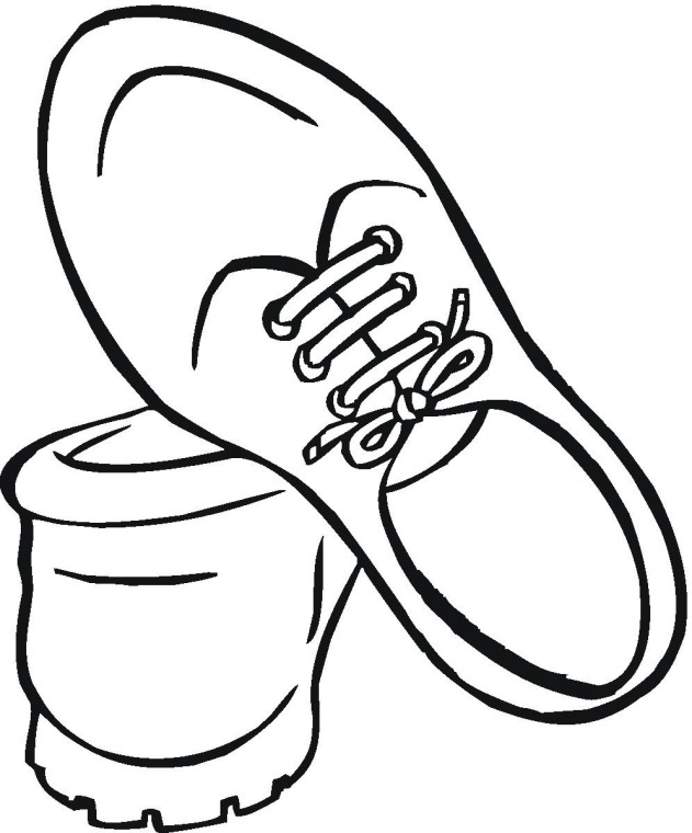 shoes coloring pages getcoloringpages