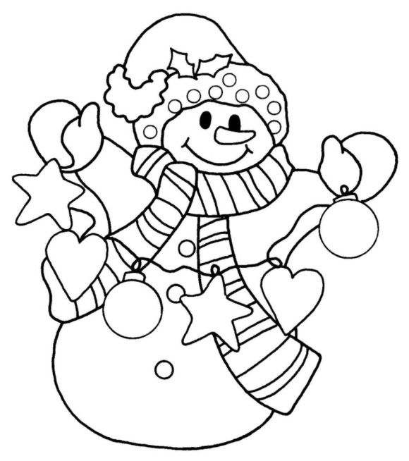 snowman christmas coloring pages for kids christmas