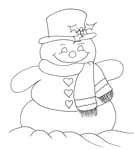 snowman coloring pages for kids disney coloring pages