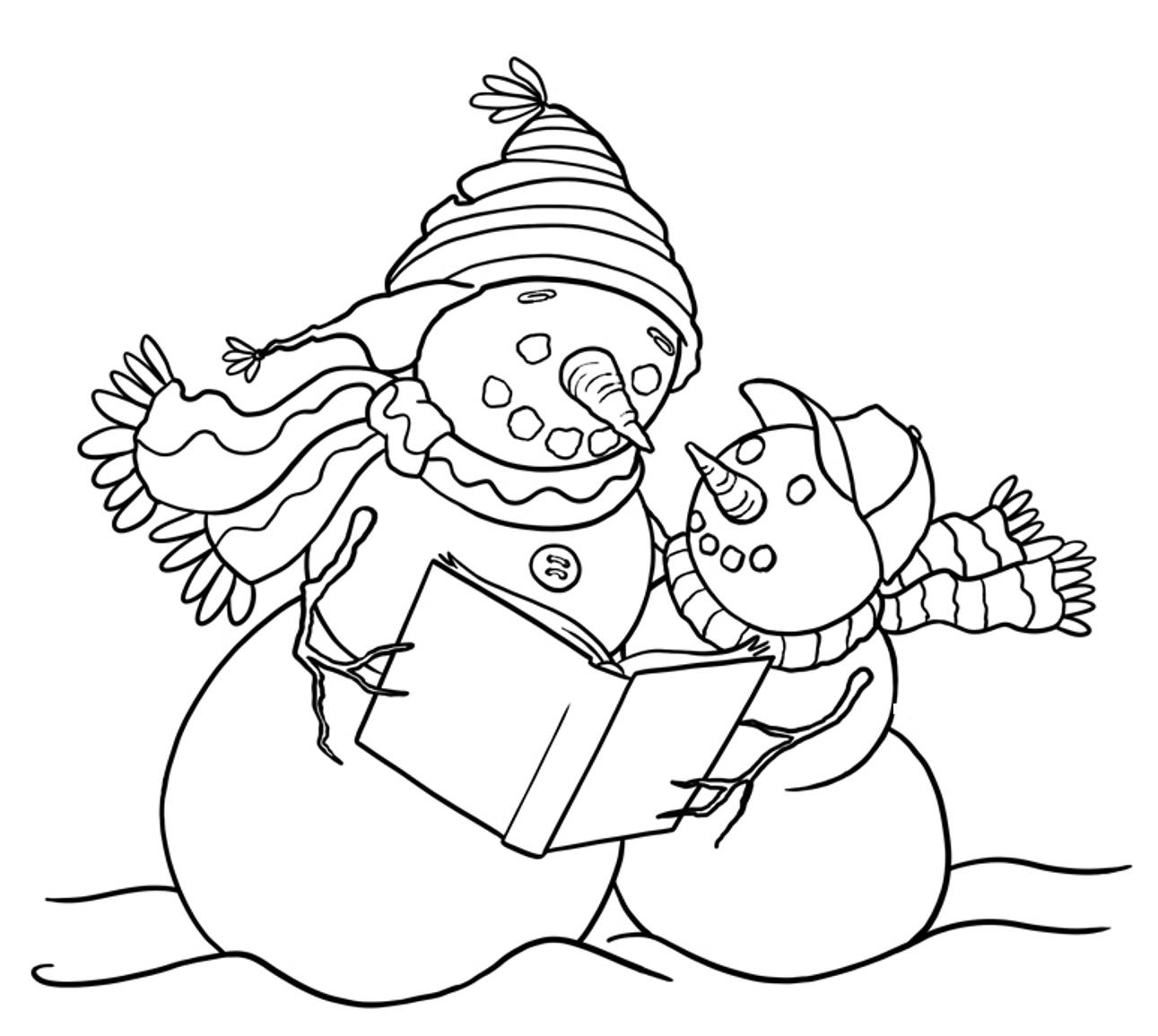 snowman family coloring pages getcoloringpages