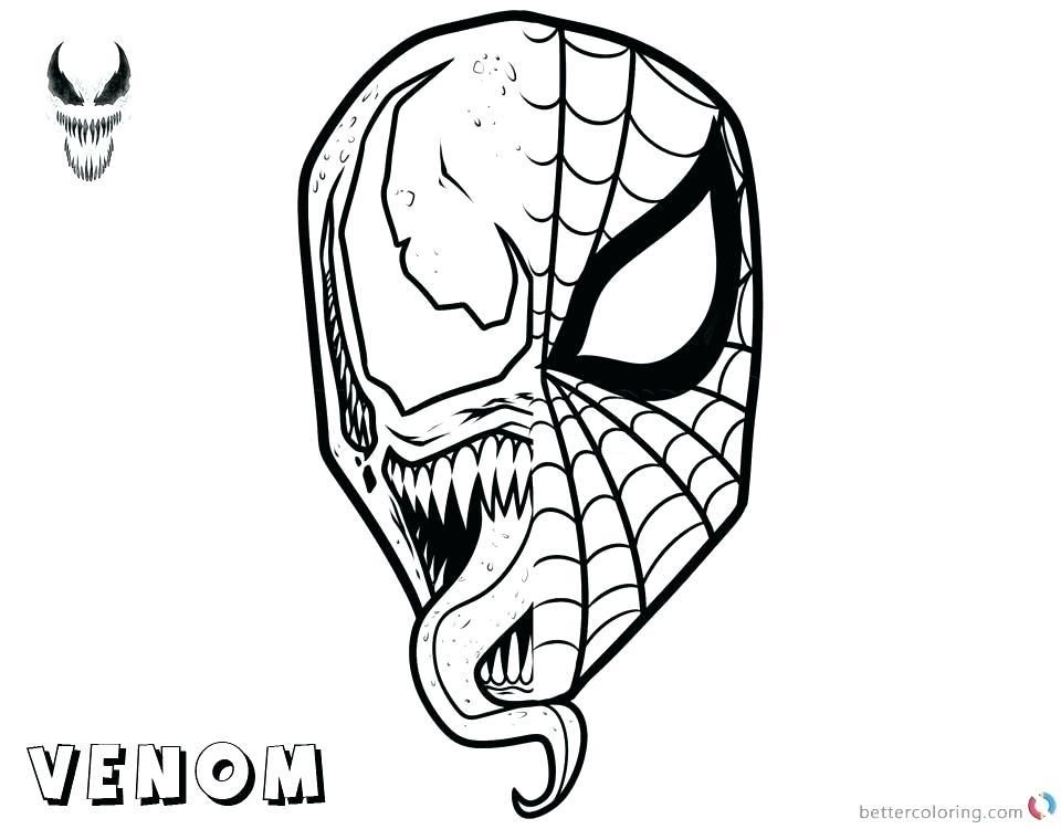 spiderman mask coloring page at getdrawings free download
