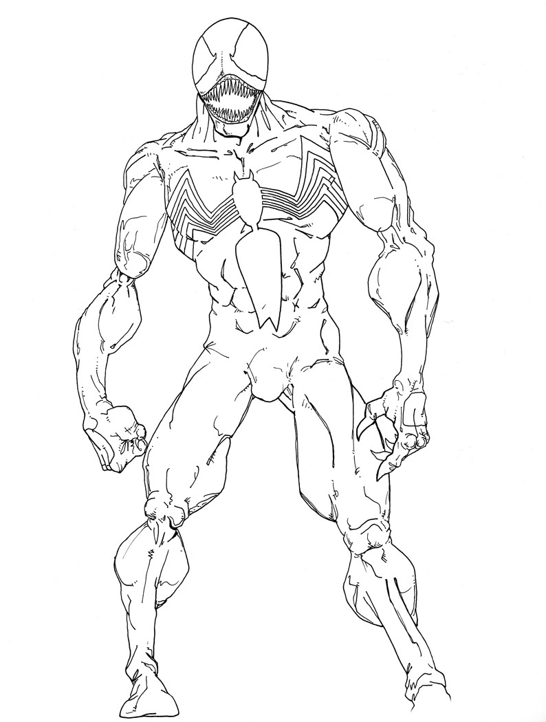 spiderman venom coloring pages at getcolorings free
