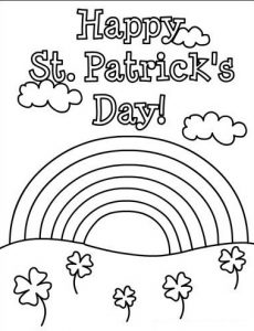 st patricks day coloring pages for kids preschool and